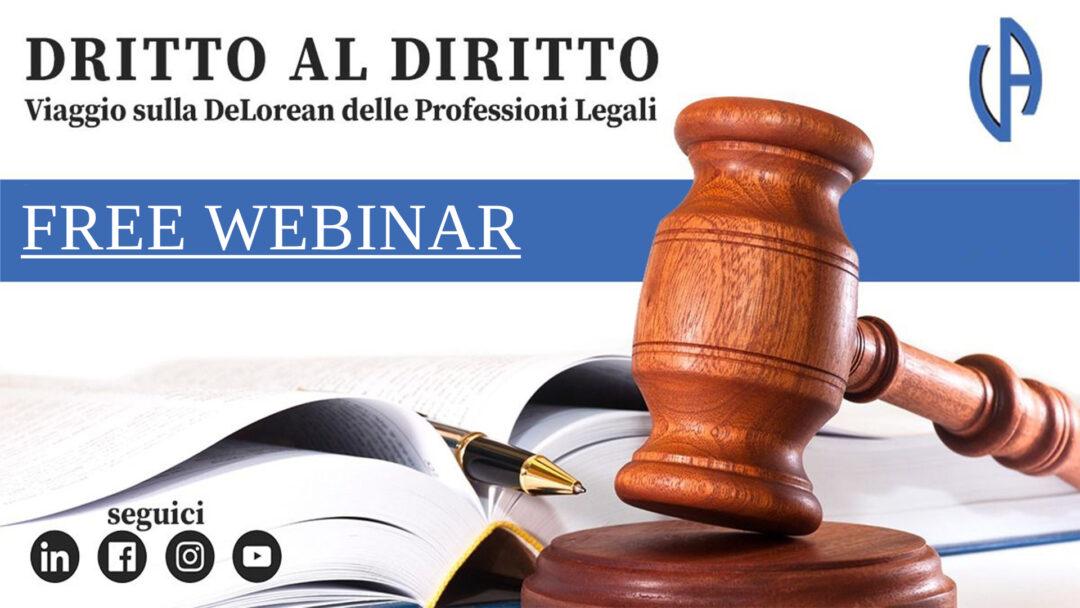 Dritto al Diritto, free webinar